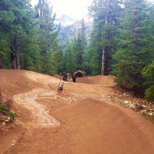 Work on TNT at Keystone Resort, Downhill Bike Rentals, Keystone, Colorado